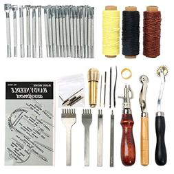 Yaetek Leathercraft Basic Accessories Tools Kit for Hand Sew