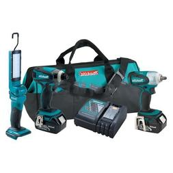 Makita LXT320 Impact Driver, Wrench, and Flashlight Combo Ki