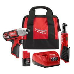M12 12-Volt Lithium-Ion Cordless 1/4 in. Impact Driver and 3