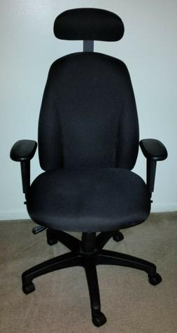 WorkPro Maverick Multifunction High-Back Fabric Chair W/Head