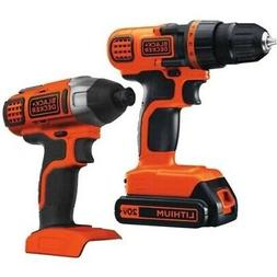 BLACK+DECKER 20V MAX* Drill/Driver + Impact Combo Kit - BD2K
