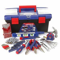 WORKPRO 170PC Mechanic Tool Set Home Repair Kit Pliers Wrenc
