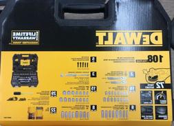 DEWALT MECHANICS TOOL SET 108 PIECE 1/4 INCH 3/8 INCH DRIVE
