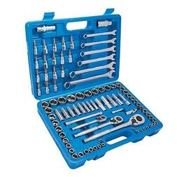 Silverline Mechanics Tool Set 90 Piece Ratchet Socket Spanne