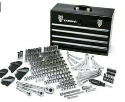 Husky Mechanics Tool Set with Steel Storage Metal Chest  - N