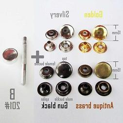 Metal 201 Snap Button Press Stud Leather Bag Clothes Popper