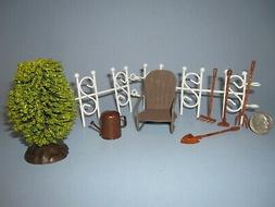 Micro Miniature Glider Chair Rusty Tools Wire Fence Water Ca