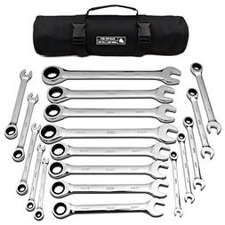 18pc MM/Metric TIGHTSPOT Ratcheting Wrenches MASTER SET - Wi