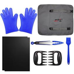 8 Piece Ultimate Grill / Smoker Set - Non-Stick Grilling Mat