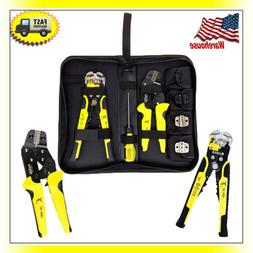Multifunctional Hand Crimping Tool Set Kit Cable Cutter Crim