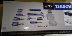 NEW Kobalt 87807 211-Piece Household Tool Set with Soft Case
