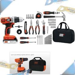 NEW BLACK & DECKER 68-Piece 20-Volt Drill Project Kit Tool S