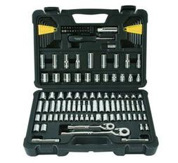 New Stanley STMT71652 123-Piece Mechanics Tool Set Chrome So
