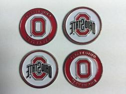 Ohio State Buckeyes Ball Marker Set of 4- markers fits hat c