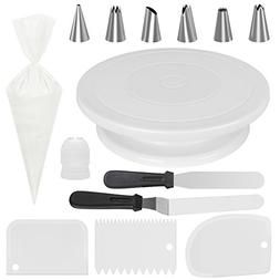 Kootek All-In-One Cake Decorating Supplies with Revolving Ca