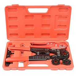 """IWISS PEX Pipe Crimping Tool Kit with Jaw Sets 3/8"""",1/2"""",3/4"""