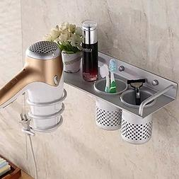Aluminum Wall Mounted Hair Dryer Holder Spiral Hair Care Too