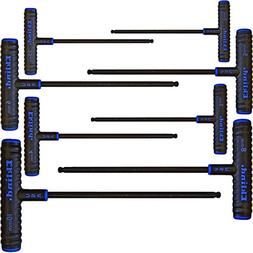 """8-Piece Power-T Ball-Hex Key Set, Pouch, 9"""""""" Arm, Sold as 8"""
