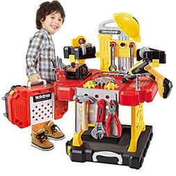 Young Choi's Kids Construction Toy Workbench for Toddlers, 1