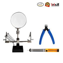 Repair Tools 3 in 1 Repair Set Helping Hands Magnifying Glas