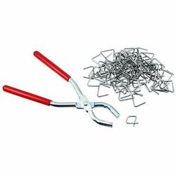 Ring Hog Pliers & 100 Pcs Set Hand Power Tools Fencing Uphol