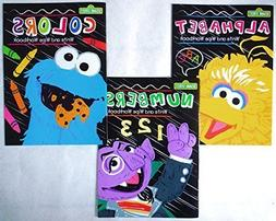Set of 3 Sesame Street Write and Wipe Workbooks