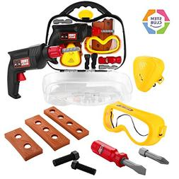 Toy Choi's Baby Kids Tool Set, STEM Pretend Play Constructio