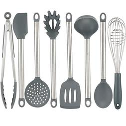 Vasdoo Silicone Kitchen Utensil Set,8 Pieces Cooking Utensil