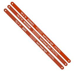 High Speed Steel Hacksaw Blade Set 18T x 12, 24T x 12 and 32