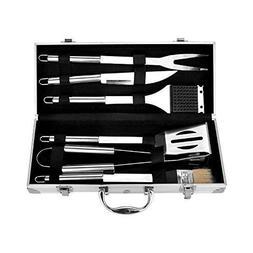 Earthfriendly 6-Piece Stainless Steel Grill Tools Set with B