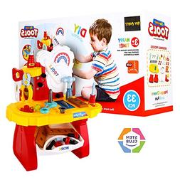 Toy Choi's STEM Toddler Toy Drill and Learn Tool Set, 33 Pie
