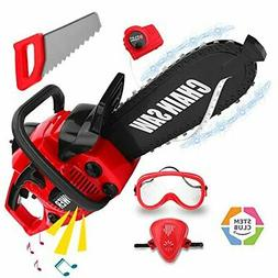 Toy Choi's STEM Kids Tools Set, Battery Operated Chainsaw To