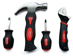 4 Piece Stubby Tool Set - Color: Red