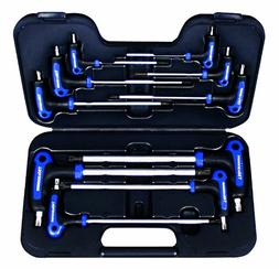 AmPro 10pc T-Handle Tamper-Proof Star and Star Key Wrench Se
