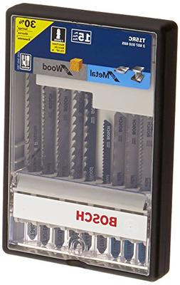 Bosch T15RC 14-Piece T-Shank Wood and Metal Cutting Jig Saw