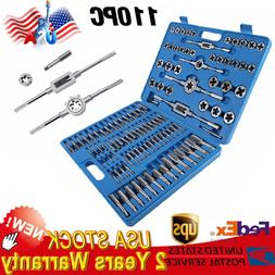 Tap And Die Set 110 Pieces SAE And METRIC W/Storage Case Thr
