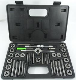 40pc Tap And Die Set Sae Thread Renewing Tools