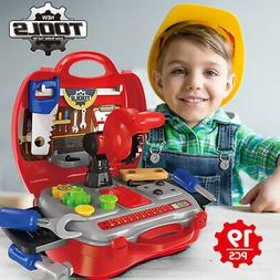 Toddler Boy Toy Tool Set Box Workbench Pretend Play Girl Kid