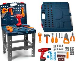Toddler Toy Realistic Tools Kit Workbench Kids Sets Electric