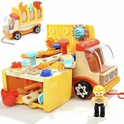 Toddler Toys Tool Set Kids STEM Workbench Workshop Truck Woo