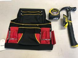 Tool Belt Pouch w/ Stanley FatMax 25' Tape Rule and Curved C