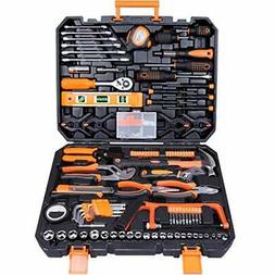 Tool Set 168Pcs Orange, General Household Hand Tool Kit with