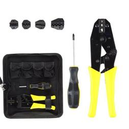 Tool Set Insulated Cable Connectors Terminal Ratchet Crimpin