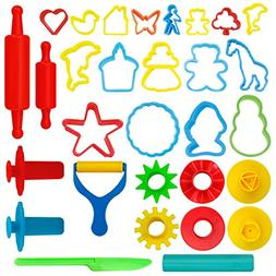 KIDDY DOUGH 24-Piece Tools Dough & Clay Party Pack w/Animal