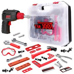 Toy Choi's Kids Tools Set with 36 Pretend Play Construction