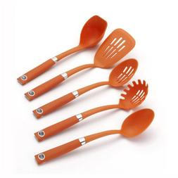 Rachael Ray Tools 5-Piece Soft-Grip Tool Set, Orange