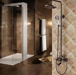GOWE Vintage Style Oil Rubbed Bronze Red Shower Faucet Set W