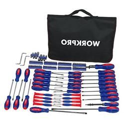 WORKPRO W000808A 130-Piece Screwdriver w/Carrying Bag