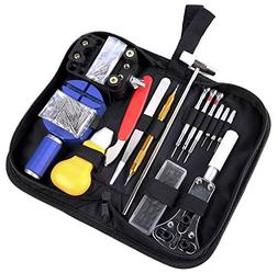 Ohuhu 147 PCS Watch Repair Tool Kit Case Opener Spring Bar T