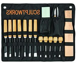 Wood Carving Whittling Chisel Tool Set 17 Piece from SculptW
